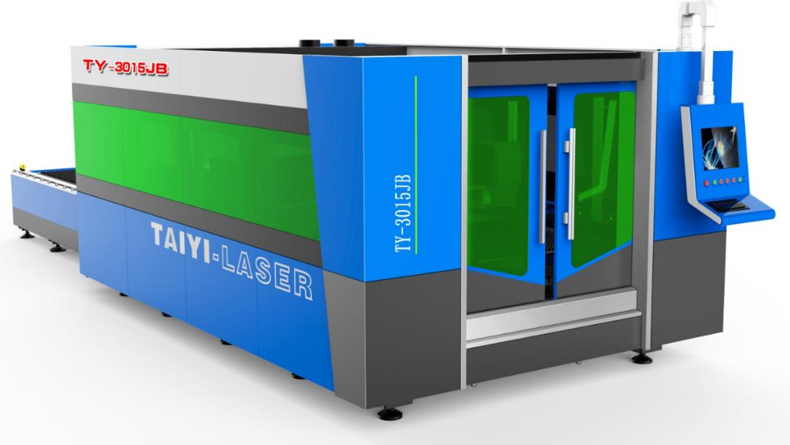 TY-3015JB Fiber Laser Cutting Machine for metals has protective cover and palle